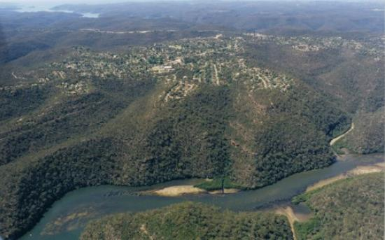 Aerial view of Berowra looking East