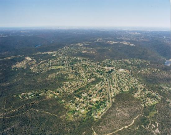 Aerial view of Berowra looking South