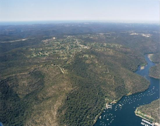 Aerial view of Berowra looking South East